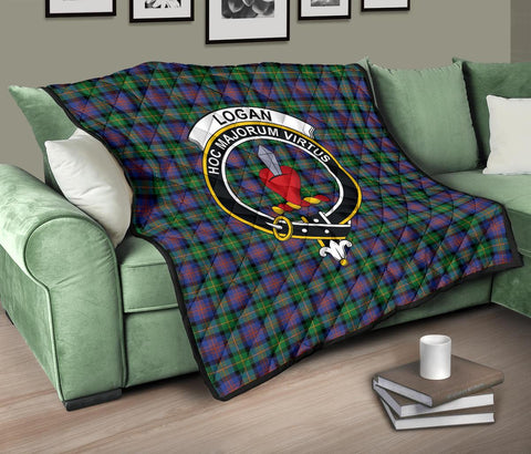 Premium Quilt - Logan Ancient Tartan Quilt - Clan Crest TH8