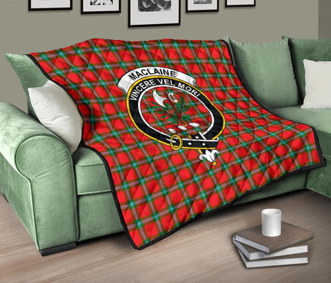 Image of Premium Quilt - MacLaine of Loch Buie Tartan Quilt - Clan Crest TH8
