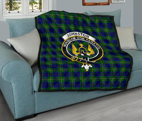 Premium Quilt - Johnston Modern Tartan Quilt - Clan Crest TH8