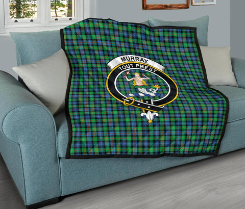 Image of Premium Quilt - Murray of Atholl Ancient Tartan Quilt - Clan Crest TH8
