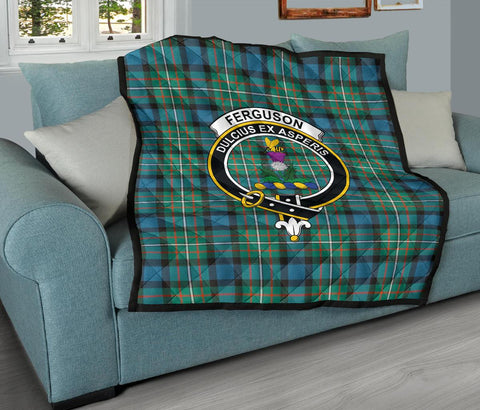 Image of Premium Quilt - FERGUSON ANCIENT Tartan Quilt - Clan Crest TH8
