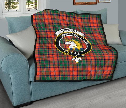 Premium Quilt - Stewart of Appin Ancient Tartan Quilt - Clan Crest TH8