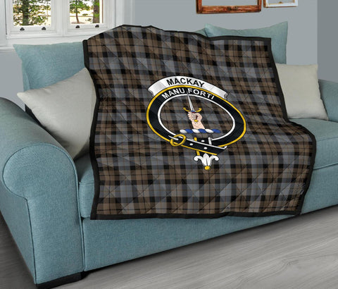 Image of Premium Quilt - MacKay Weathered Tartan Quilt - Clan Crest TH8