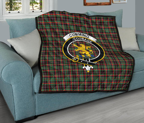 Premium Quilt - Cumming Hunting Ancient Tartan Quilt - Clan Crest TH8