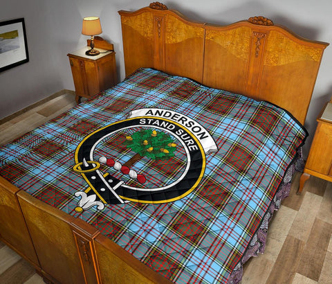 Image of Premium Quilt - Anderson Ancient Tartan Quilt - Clan Crest TH8