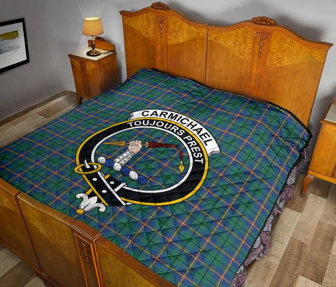 Image of Premium Quilt - Carmichael Ancient Tartan Quilt - Clan Crest TH8