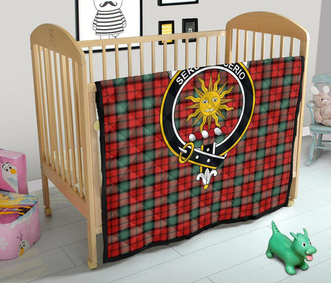 Premium Quilt - Kerr Ancient Tartan Quilt - Clan Crest TH8