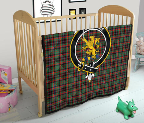 Image of Premium Quilt - Cumming Hunting Ancient Tartan Quilt - Clan Crest TH8