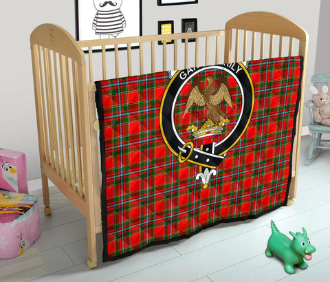 Premium Quilt - Drummond of Perth Tartan Quilt - Clan Crest TH8