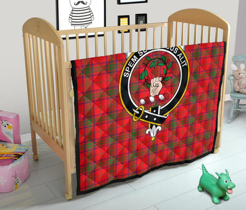 Image of Premium Quilt - Ross Modern Tartan Quilt - Clan Crest TH8