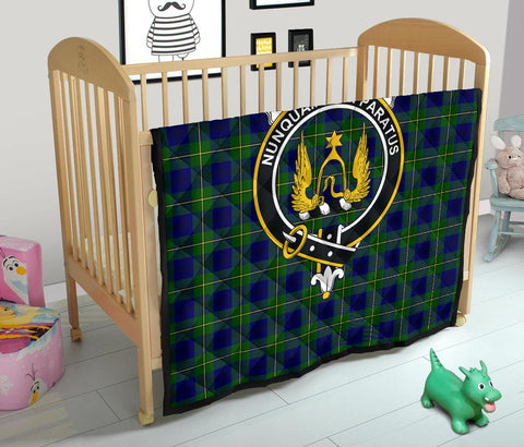 Image of Premium Quilt - Johnston Modern Tartan Quilt - Clan Crest TH8