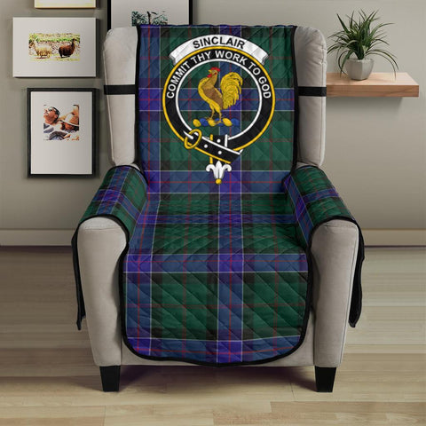 Clan Sinclair Hunting Modern Plaid & Crest Tartan Sofa Protector - 23 Inches