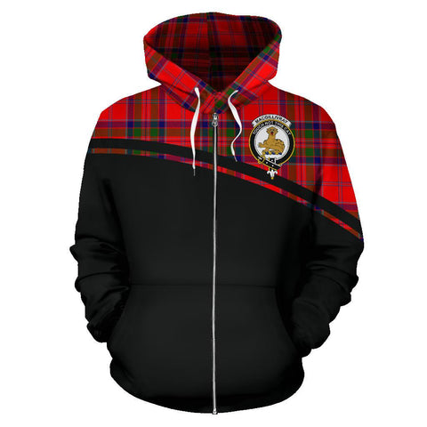 Custom Hoodie - Clan MacGillivray Plaid Tartan Zip Up Hoodie Design Your Own - Half Of Me Style - Unisex Sizing