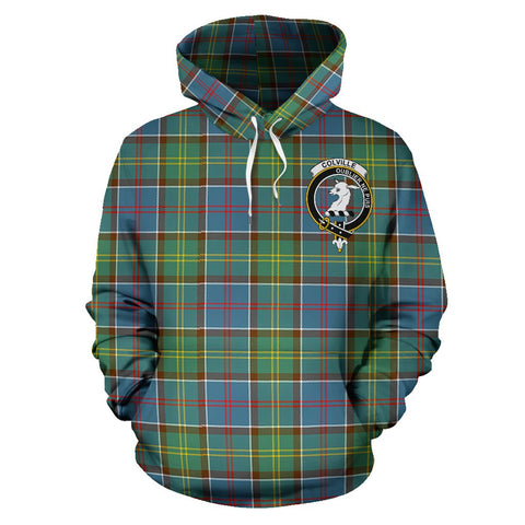 Image of Tartan Clan Colville District Plaid Hoodie With Crest