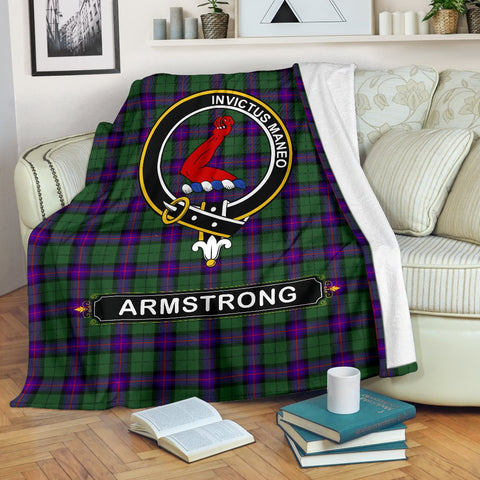 Armstrong Crest Tartan Blanket | Tartan Home Decor | ScottishShop