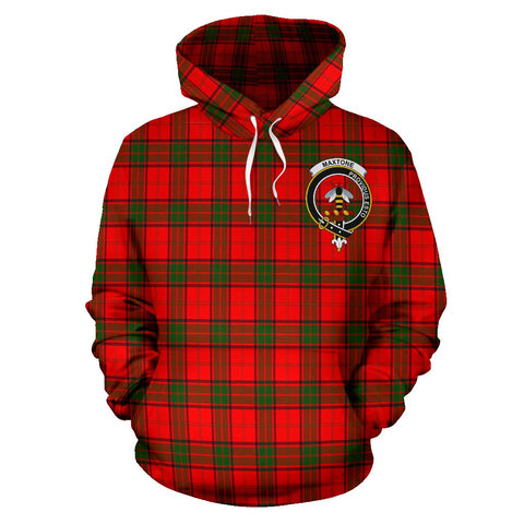 Tartan Clan Maxtone Plaid Hoodie With Crest