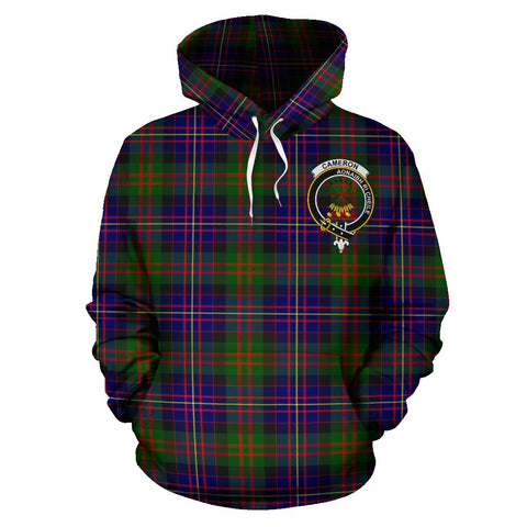 Tartan Clan Cameron Plaid Hoodie With Crest