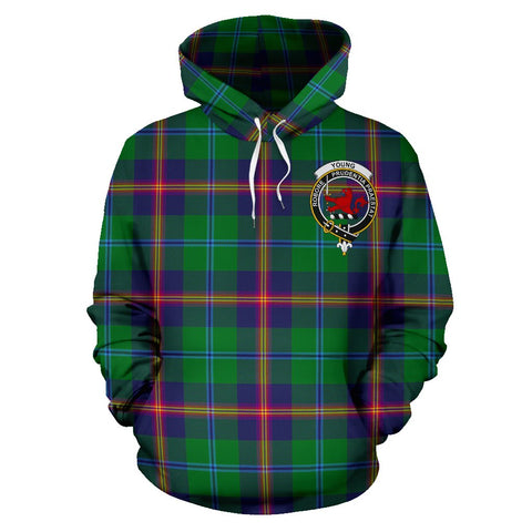 Tartan Clan Young Plaid Hoodie With Crest