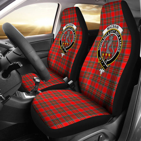 ScottishShop Seat Cover - Tartan Crest Macbean Car Seat Cover Clan Badge - Universal Fit