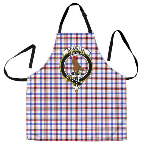 Tartan Apron - Boswell Modern Apron With Clan Crest HJ4