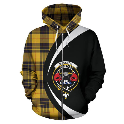 ScottishShop Tartan Zip Up Hoodie - Clan MacLeod Of Lewis Ancient Hoodie - Circle Style