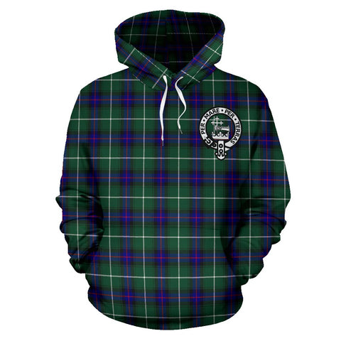 Tartan Clan Macdonald Of The Isles Plaid Hoodie With Crest