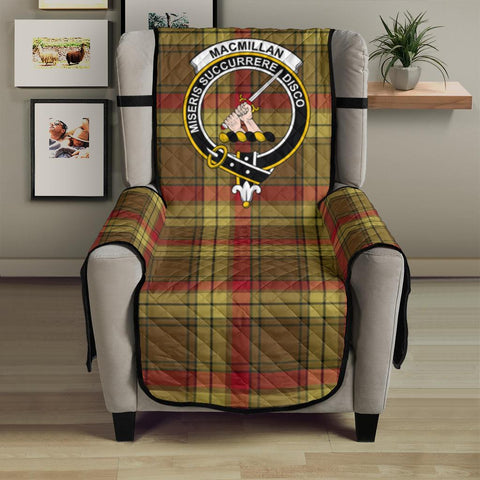 Clan MacMillan Old Weathered Plaid & Crest Tartan Sofa Protector - 23 Inches