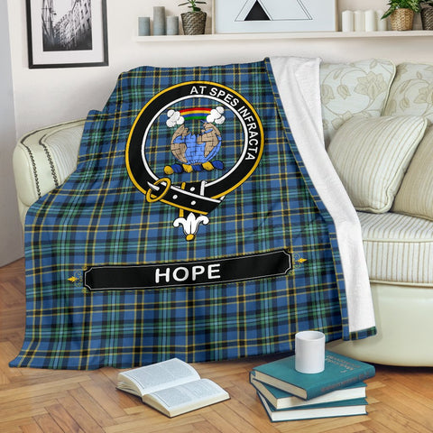 Hope Crest Tartan Blanket | Tartan Home Decor | ScottishShop