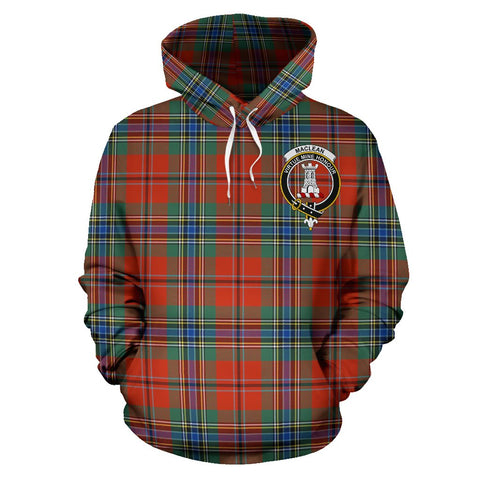 Tartan Clan Maclean Of Duart Plaid Hoodie With Crest