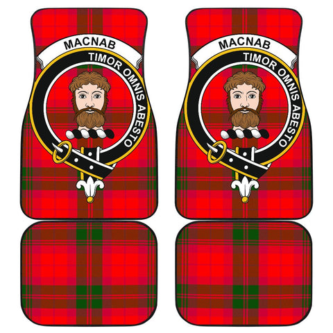 Car Floor Mats - Clan Macnab Modern Crest And Plaid Tartan Car Mats - 4 Pieces
