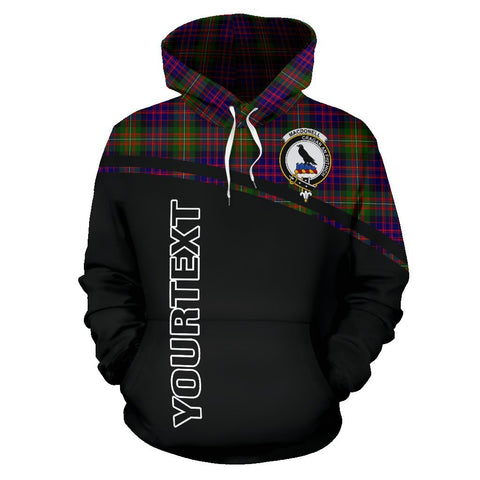 Image of MacDonell of Glengarry Tartan Custom Personalised Hoodie - Curve Style Front