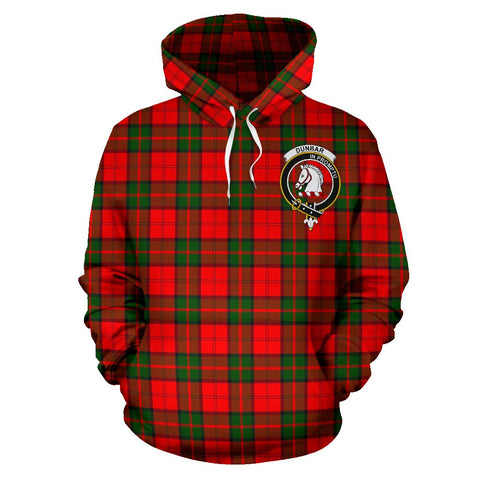 Tartan Clan Dunbar Plaid Hoodie With Crest