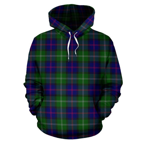 Image of Tartan Clan Macthomas Modern Plaid Hoodie