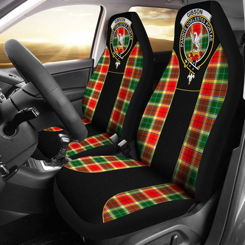 Gibson Tartan Car Seat Cover Clan Badge - Special Version