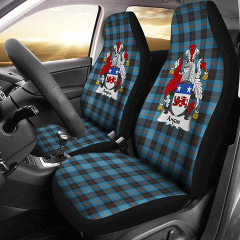 ScottishShop Seat Cover - Tartan Crest Angus Car Seat Cover Clan Badge - Universal Fit