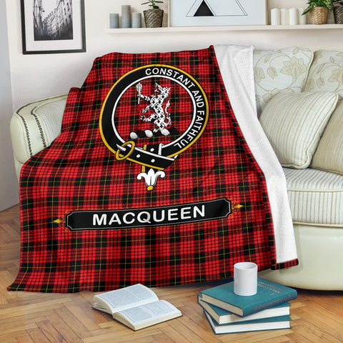 MacQueen Crest Tartan Blanket | Tartan Home Decor | ScottishShop