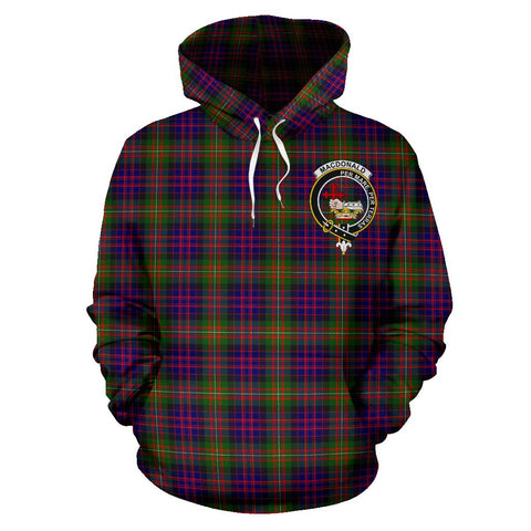 Tartan Clan Macdonald Plaid Hoodie With Crest