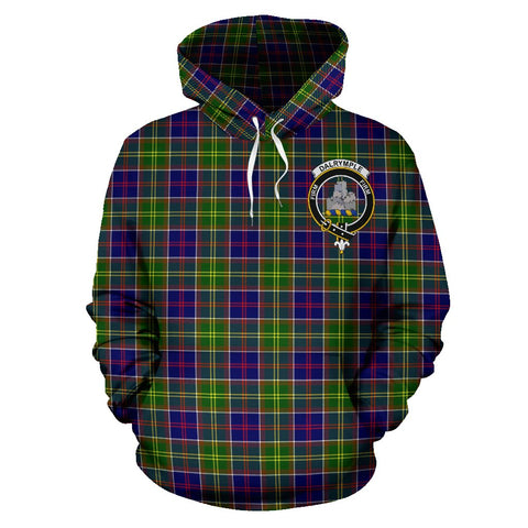 Tartan Clan Dalrymple Plaid Hoodie With Crest