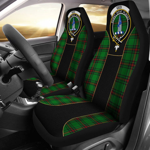 Ged Tartan Car Seat Cover Clan Badge - Special Version