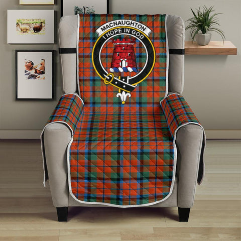 Clan MacNaughton Ancient Plaid & Crest Tartan Sofa Protector - 23 Inches