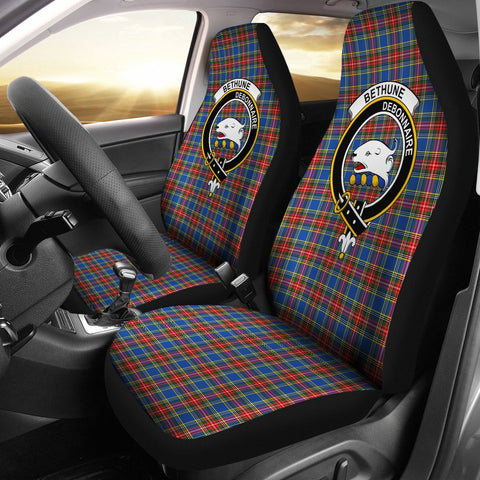 ScottishShop Seat Cover - Tartan Crest Bethune Car Seat Cover Clan Badge - Universal Fit