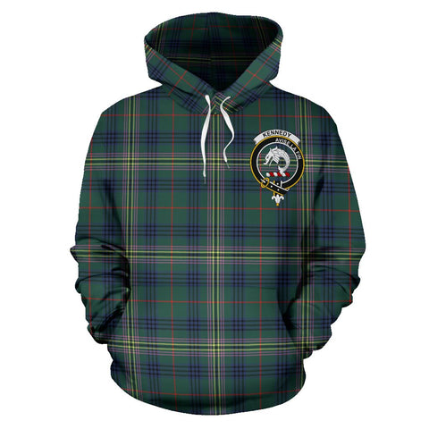Tartan Clan Kennedy Plaid Hoodie With Crest