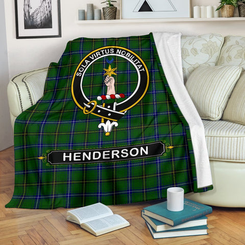 Henderson (MacKendrick) Crest Tartan Blanket | Tartan Home Decor | ScottishShop