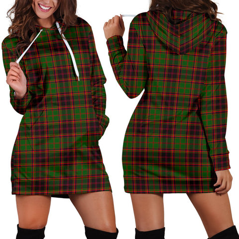 Image of Buchan Modern, Tartan, For Women, Hoodie Dress For Women, Scottish Tartan, Scottish Clans, Hoodie Dress, Hoodie Dress Tartan, Scotland Tartan, Scot Tartan, Merry Christmas, Cyber Monday, Black Friday, Online Shopping,Buchan Modern Hoodie Dress