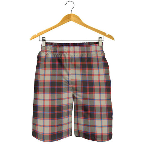 Tartan Mens Shorts - Clan MacPherson Hunting Ancient Plaid Shorts