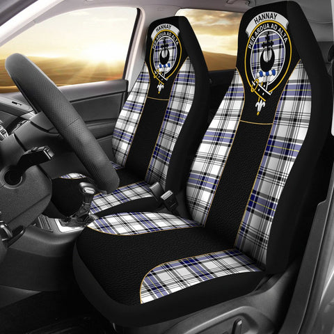 Hannay Tartan Car Seat Cover Clan Badge - Special Version