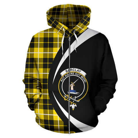 Tartan Zip Up Hoodie - Clan Barclay Dress Modern Zip Up Hoodie - Circle Style Unisex