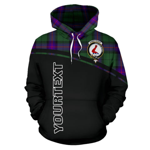 Armstrong Tartan Custom Personalised Hoodie - Curve Style Front