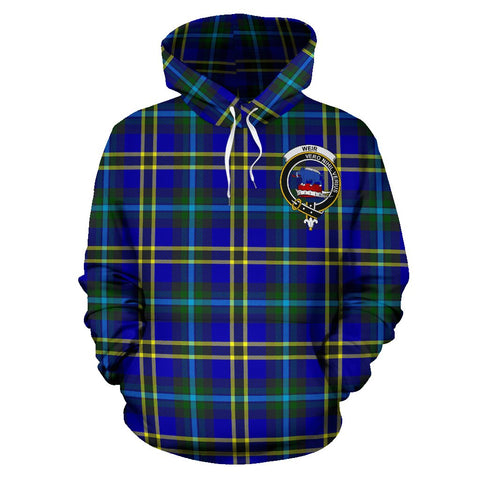Tartan Clan Weir Plaid Hoodie With Crest