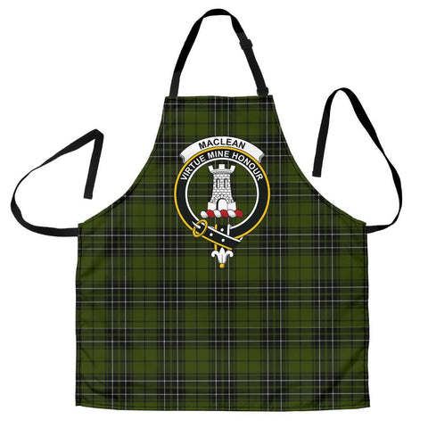 Tartan Apron - MacLean Hunting Apron With Clan Crest HJ4